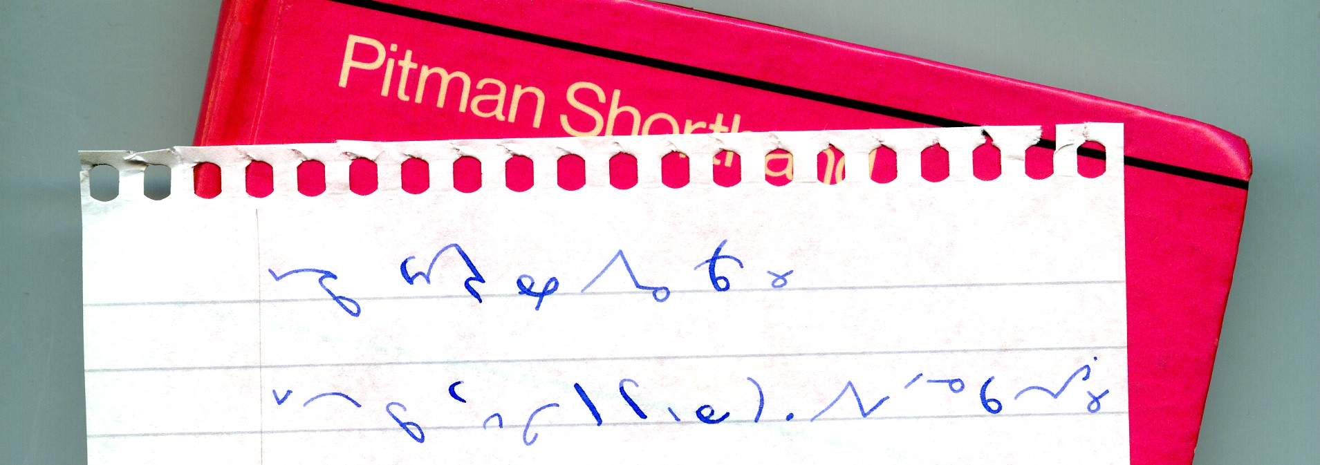 Pitman's Shorthand: same sentence phrased and unphrased