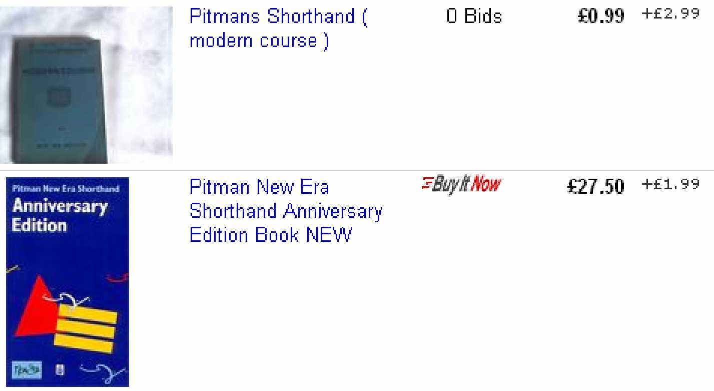 Shorthand books compare prices