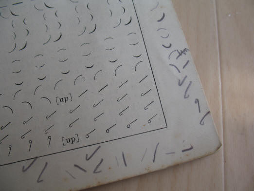 Old shorthand book ink marks
