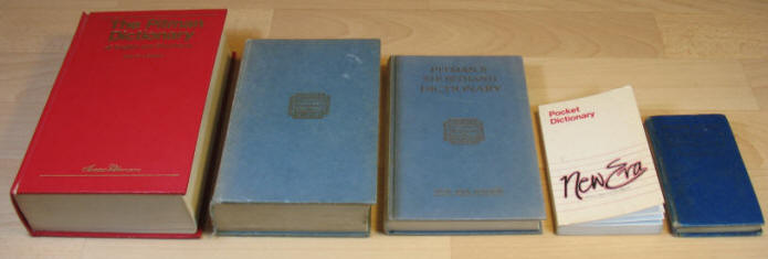 Five Pitman's Shorthand dictionaries