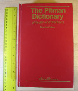 (1) Pitman's Shorthand Dictionary cover
